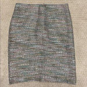 Ann Taylor boucle tweed pencil skirt